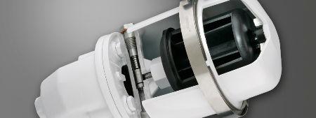 low pressure centrifuge cutaway